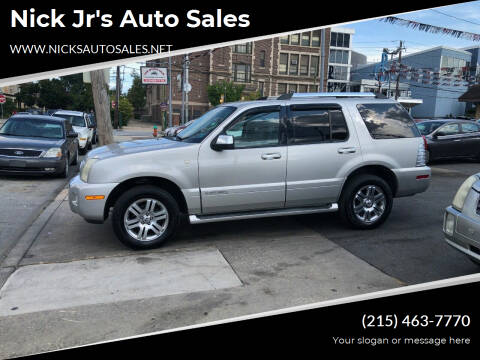 2007 Mercury Mountaineer for sale at Nick Jr's Auto Sales in Philadelphia PA