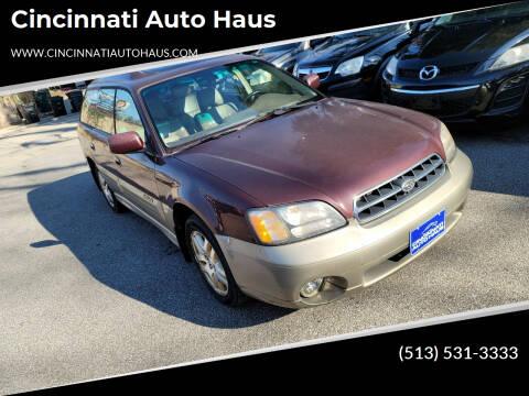 2000 Subaru Outback for sale at Cincinnati Auto Haus in Cincinnati OH