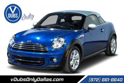 2012 MINI Cooper Coupe for sale at VDUBS ONLY in Dallas TX