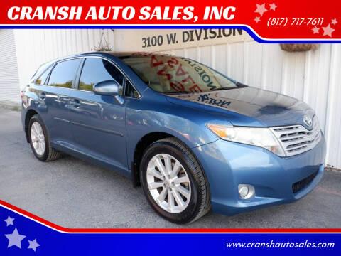 2011 Toyota Venza for sale at CRANSH AUTO SALES, INC in Arlington TX