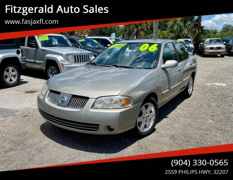 2006 Nissan Sentra for sale at Fitzgerald Auto Sales in Jacksonville FL