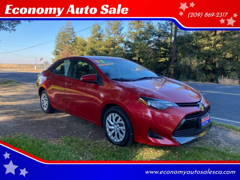 2018 Toyota Corolla for sale at Economy Auto Sale in Modesto CA