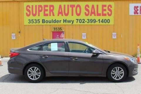 2015 Hyundai Sonata for sale at Super Auto Sales in Las Vegas NV