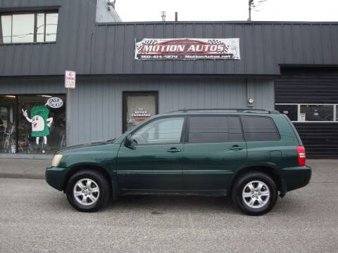 2003 Toyota Highlander for sale at Motion Autos in Longview WA