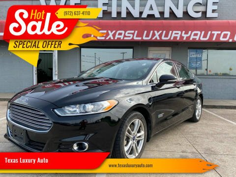 2016 Ford Fusion Energi for sale at Texas Luxury Auto in Cedar Hill TX