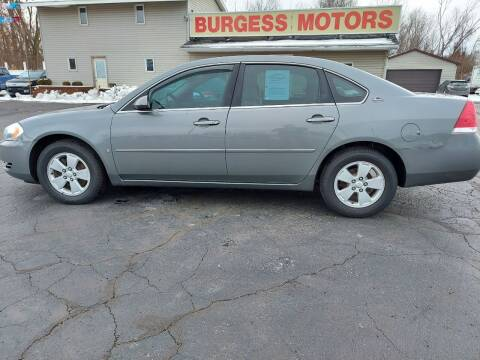 2007 Chevrolet Impala for sale at Burgess Motors Inc in Michigan City IN