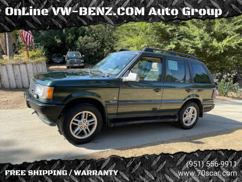 2000 Land Rover Range Rover for sale at OnLine VW-BENZ.COM Auto Group in Riverside CA