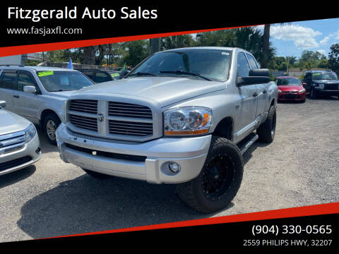 2006 Dodge Ram Pickup 1500 for sale at Fitzgerald Auto Sales in Jacksonville FL