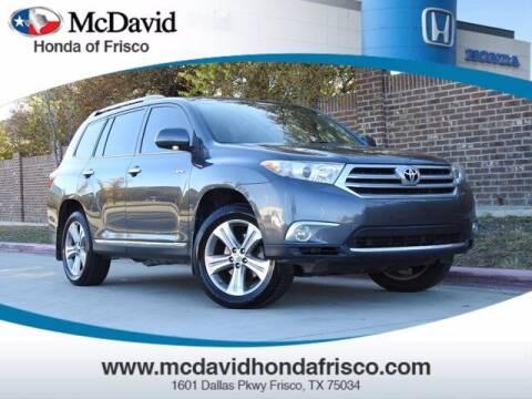 2013 Toyota Highlander for sale at DAVID McDAVID HONDA OF IRVING in Irving TX