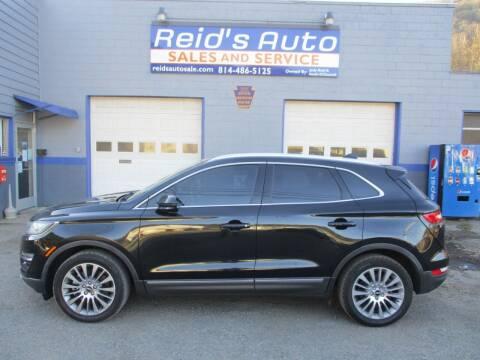 2015 Lincoln MKC for sale at Reid's Auto Sales & Service in Emporium PA