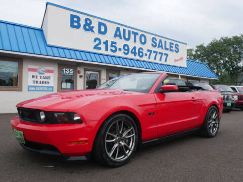 2012 Ford Mustang for sale at B & D Auto Sales Inc. in Fairless Hills PA