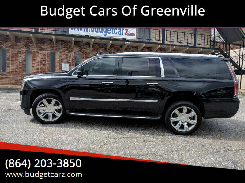 2016 Cadillac Escalade ESV for sale at Budget Cars Of Greenville in Greenville SC