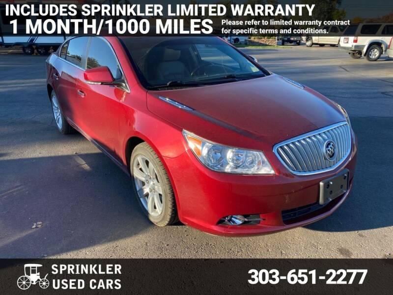 2011 Buick LaCrosse for sale at Sprinkler Used Cars in Longmont CO