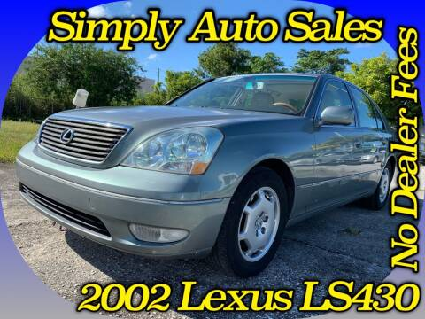 2002 Lexus LS 430 for sale at Simply Auto Sales in Palm Beach Gardens FL