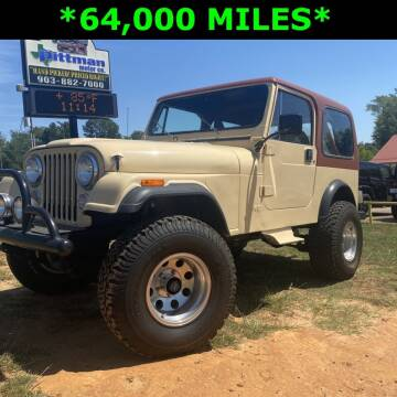 1983 Jeep CJ-7 for sale at PITTMAN MOTOR CO in Lindale TX