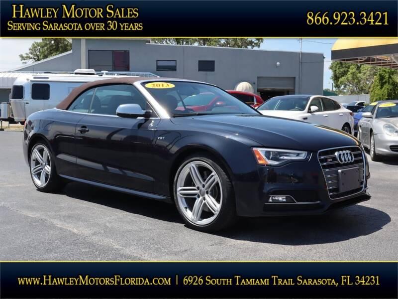 2013 Audi S5 for sale at Hawley Motor Sales in Sarasota FL