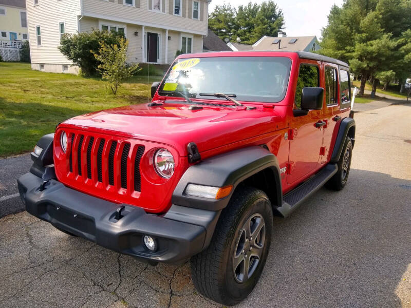 2018 Jeep Wrangler Unlimited for sale at Washington Street Auto Sales in Canton MA