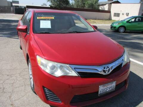 2012 Toyota Camry for sale at F & A Car Sales Inc in Ontario CA