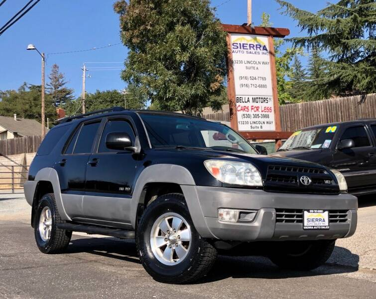 2003 Toyota 4Runner for sale at Sierra Auto Sales Inc in Auburn CA