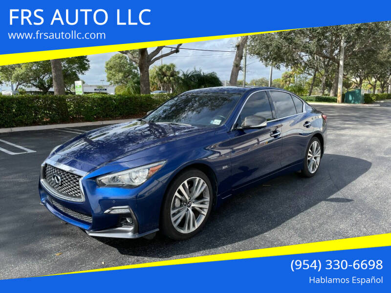 2018 Infiniti Q50 for sale at FRS AUTO LLC in West Palm Beach FL