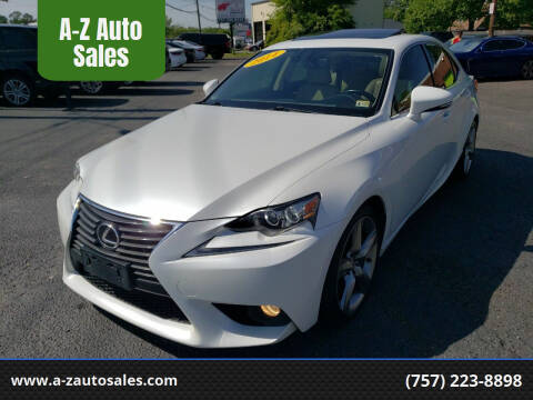 2014 Lexus IS 350 for sale at A-Z Auto Sales in Newport News VA