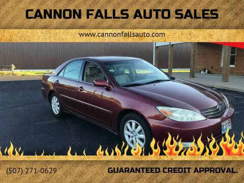 2004 Toyota Camry for sale at Cannon Falls Auto Sales in Cannon Falls MN