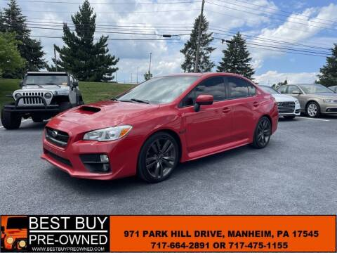 2017 Subaru WRX for sale at Best Buy Pre-Owned in Manheim PA