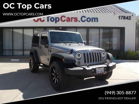2018 Jeep Wrangler JK for sale at OC Top Cars in Irvine CA