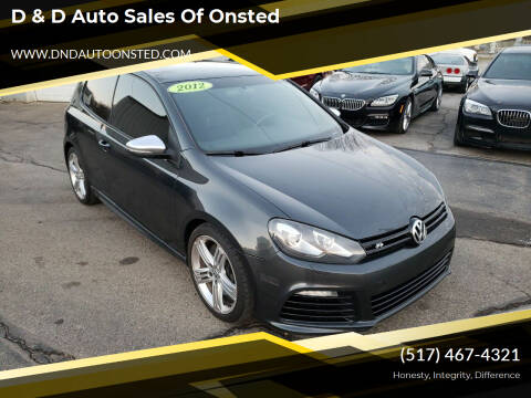 2012 Volkswagen Golf R for sale at D & D Auto Sales Of Onsted in Onsted   Brooklyn MI