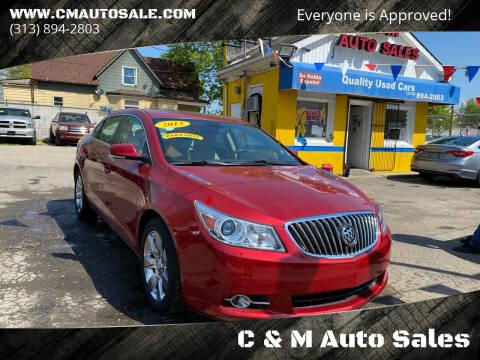 2013 Buick LaCrosse for sale at C & M Auto Sales in Detroit MI