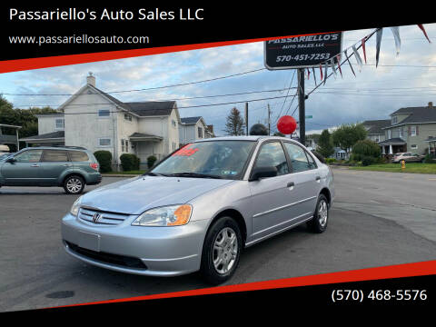 2001 Honda Civic for sale at Passariello's Auto Sales LLC in Old Forge PA