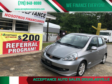 2008 Honda Fit for sale at Acceptance Auto Sales Douglasville in Douglasville GA