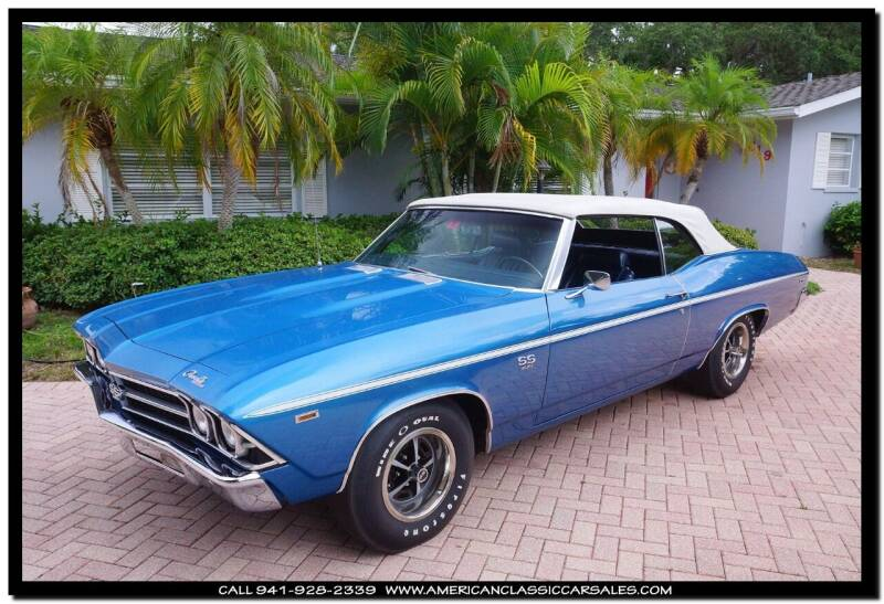 1969 Chevrolet Chevelle for sale at American Classic Car Sales in Sarasota FL