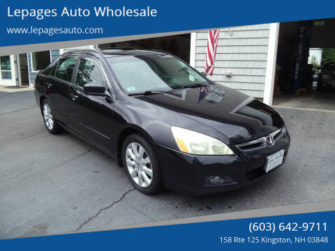 2007 Honda Accord for sale at Lepages Auto Wholesale in Kingston NH
