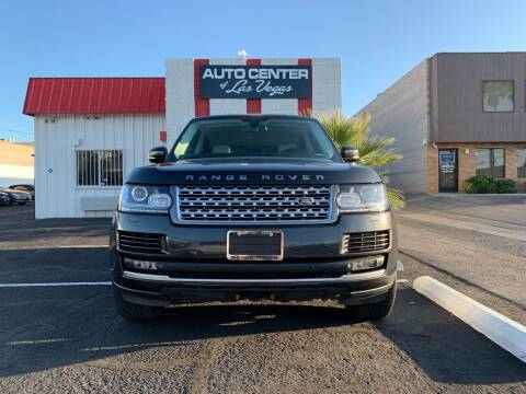 2013 Land Rover Range Rover for sale at Auto Center Of Las Vegas in Las Vegas NV