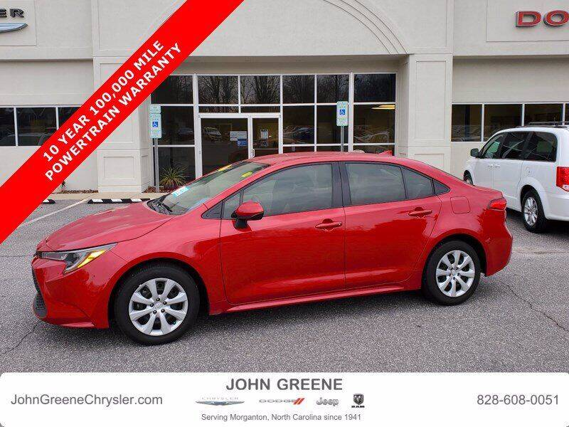 2020 Toyota Corolla for sale at John Greene Chrysler Dodge Jeep Ram in Morganton NC
