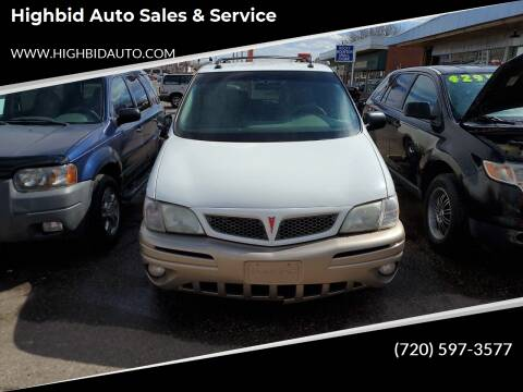 2004 Pontiac Montana for sale at Highbid Auto Sales & Service in Lakewood CO