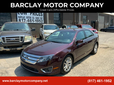 2012 Ford Fusion for sale at BARCLAY MOTOR COMPANY in Arlington TX