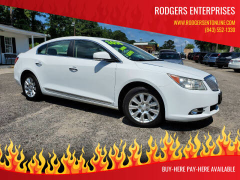 2012 Buick LaCrosse for sale at Rodgers Enterprises in North Charleston SC