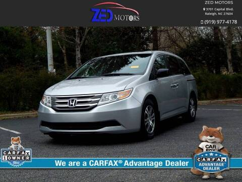 2012 Honda Odyssey for sale at Zed Motors in Raleigh NC