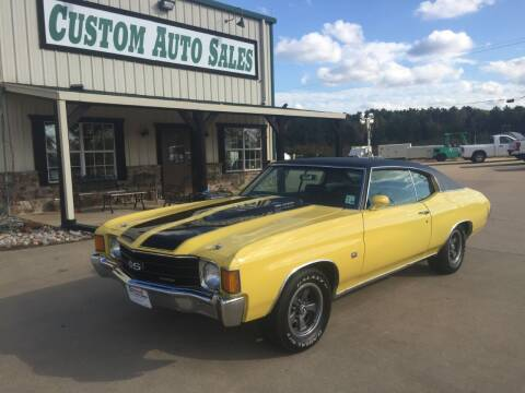 1972 Chevrolet Chevelle for sale at Custom Auto Sales - AUTOS in Longview TX