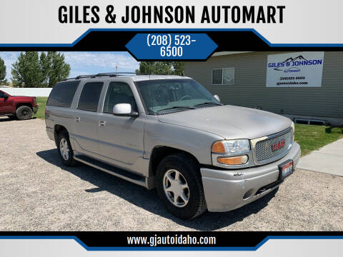 2006 GMC Yukon XL for sale at GILES & JOHNSON AUTOMART in Idaho Falls ID