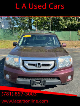 2010 Honda Pilot for sale at L A Used Cars in Abington MA