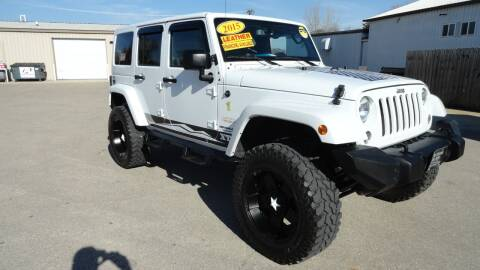 2015 Jeep Wrangler Unlimited for sale at CENTER AVENUE AUTO SALES in Brodhead WI
