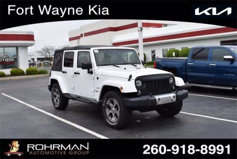 2017 Jeep Wrangler Unlimited for sale at BOB ROHRMAN FORT WAYNE TOYOTA in Fort Wayne IN