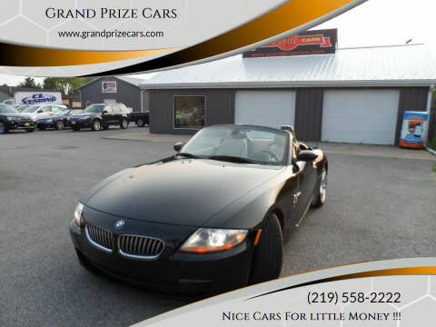2007 BMW Z4 for sale at Grand Prize Cars in Cedar Lake IN