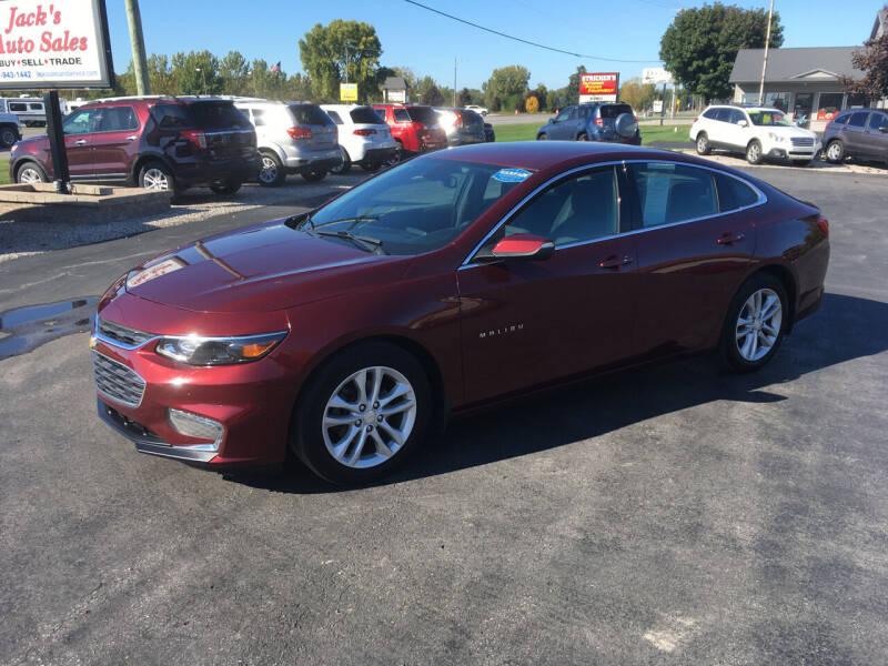 2016 Chevrolet Malibu for sale at JACK'S AUTO SALES in Traverse City MI