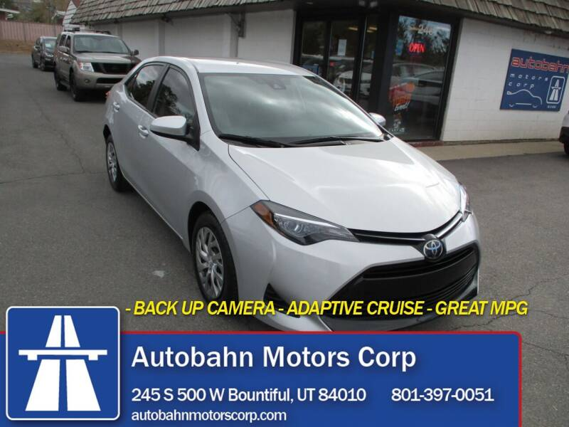 2019 Toyota Corolla for sale at Autobahn Motors Corp in Bountiful UT