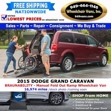 2015 Dodge Grand Caravan for sale at Wheelchair Vans Inc - New and Used in Laguna Hills CA