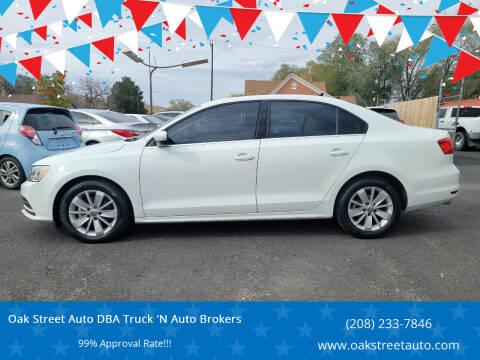 2015 Volkswagen Jetta for sale at Oak Street Auto DBA Truck 'N Auto Brokers in Pocatello ID